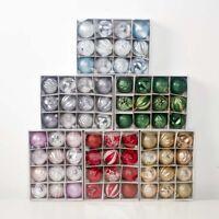 Christmas Tree Bauble Set Shatterproof Ornament Decoration Xmas Balls Festivel