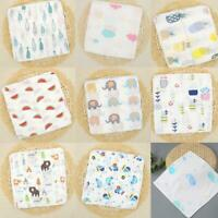 5pcs Baby Newborn Muslin Square 100% Cotton Bath Wash Handkerchief Set 20*20cm