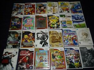 Assorted Wii Titles (CIB) Pre-owned with Care, Very Good Condition (See photos)