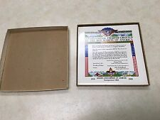 1966 Boy Scout Congressional Charter Ceramic Plaque in Box