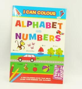 Kids I Can Colour Alphabet & Numbers Book Activity Books Learning Letters Words