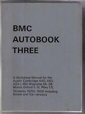 AUSTIN Cambridge Morris Oxford MG Magnette Riley 1.5 Wolseley 15/50 1500 manuale