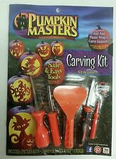 PUMPKIN MASTERS CARVING KIT - Pattern Book -3 Saws -1 Scraper Scoop - 1 Poker
