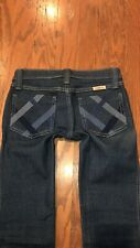 Frankie B Basketweave Criss Cross Jeans Size 0