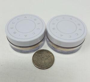 2x BECCA Hydra Mist Set & Refresh Powder Travel Size 1.5g/0.05oz Each New SEALED