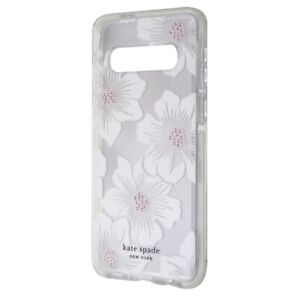 Kate Spade NY Hardshell Case for Samsung Galaxy S10 Hollyhock Floral Clear