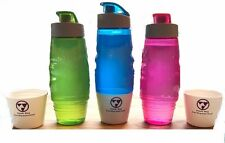 Flask Dog Pet Water Bottle 20oz Dog Water Bottle Bowl NEW no dog germs sharing