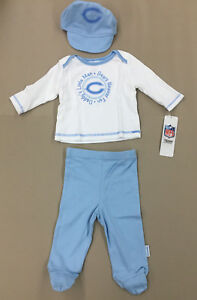 NFL Chicago Bears INFANT 3 Piece Set Boys Hat & Footed Pants NEW 3-6 Months