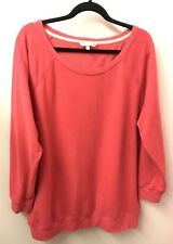 Victoria's Secret XL PINK Sweatshirt Wings Long Sleeve Boyfriend Oversized Euc