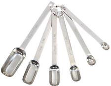 Masterclass acero inoxidable cucharas medidoras juego de 6 muy largo recorrido