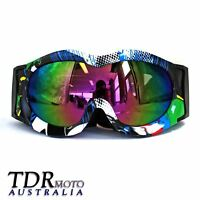Graffiti Kids Snowboard Ski Snow Goggles Spherical Lens Children Sport Glasses