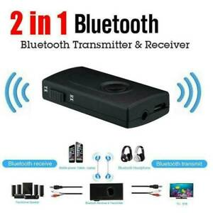 Bluetooth 5.0 Transmitter Receiver 2in1 Wireless Audio 3.5mm Jack Aux Adapter US