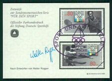 GERMANY SPORTS AID OLYMPIC COMMITTEE S/S UNISSUED DESIGNS TENNIS ICE DANCE fd54