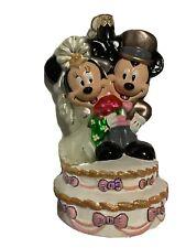 Disney Radko Mickey & Minnie Mouse Wedding Cake Bride Groom Ornament