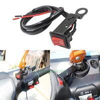 Motorcycle ATV Bike Handlebar Accident Hazard Light ON/OFF Kill Flameout Switch
