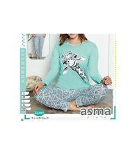 Damen Schlafanzug langer Pyjama Langarm M-2XL Giraffe