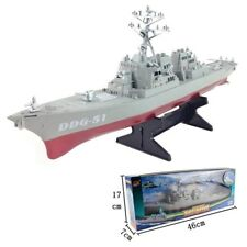 DDG-51 Navy Guided Missile Destroyer Ship Model Static Toys with Display Stand