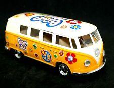 Volkswagen Hippy Flower Power Camper Van Model Opening Doors Pullback Action NEW