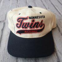Vintage Minnesota Twins Wool Snapback Hat by Starter Cap 90s