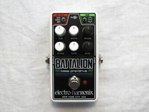 Used Electro-Harmonix EHX Nano Battalion Bass Preamp DI Pedal w/ Power supply