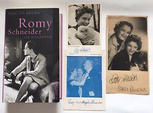 Romy Schneider signiert Karte original Unterschrift Signatur Autogramm + Extra