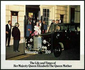 Vanuatu 1985 Queen Mother Birthday - Miniature Sheet MNH