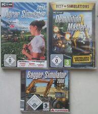 Demolition Master 3d + agrícola simulador 2012 + excavadoras simulador colección PC