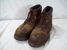 McRae Men's Dark Brown Lace Up Work Boot Steel Toe MR86344 size 10.5M