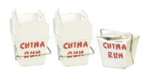 Dollhouse Miniature Chinese Take Out  - Handcrafted