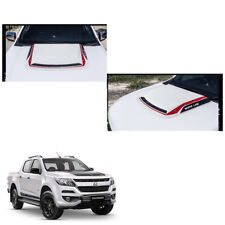 New Chevrolet Holden Colorado 17 + Bonnet Hood Scoop Cover White Red Trim 1 Pc