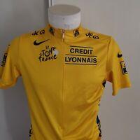 maillot de cyclisme maillot jaune tour de france   taille L vélo nike