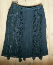Whistles black evening skirt, lace, sequins, size 10