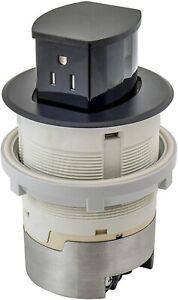 Hubbell RCT200BK 15A 125V Tamper Resistant Black Pop-Up Countertop Receptacle
