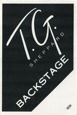 T. G. SHEPPARD  Concert Tour Backstage Pass!!! Authentic Original OTTO