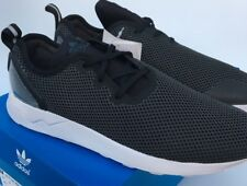 b553fa6cdb429 adidas ZX Flux ADV Asymmetrical Running Trainers S79050 Black White UK 8