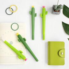 2* 0.5mm Cactus Gel Pens Cute Gift Kids Pen School Student Office Stationery2018