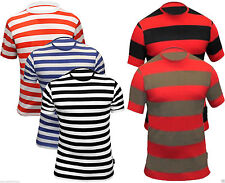 Unbranded Cotton Blend Crew Neck Fitted T-Shirts for Men