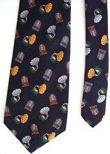 "Amburns Juke Boxes Men's Silk Neck Tie Juke Boxes Black 3.75"" x 57"""