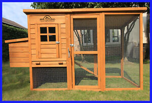 LARGE DELUXE CHICKEN COOP HEN POULTRY HOUSE HUTCH