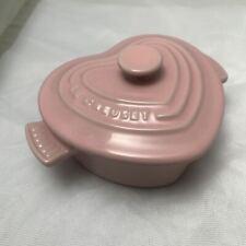 Le Creuset Pink Heritage Petite Heart Cocotte - 8 oz.