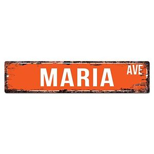 SWNA0007 MARIA AVE Street Chic Sign Home Store Shop Wall Decor Birthday Gift