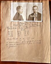 1917 ESCAPED PRISONER WANTED POSTER Real Photos Kentucky State Penitentiary NR