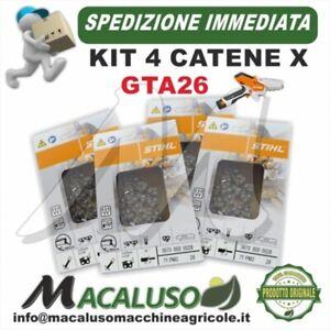 kit 4 pz. Catena Stihl GTA26 Passo 1/4 sp.1,1 maglie 28 Potatore GTA 26 36700000