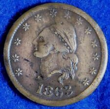 1863 I. O. U. One Cent Civil War Token