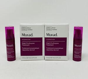 2x Murad Hydration Night Fix Enzyme Treatment .17oz/5ml Each Mini Travel NIB