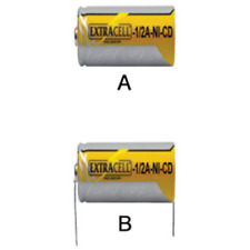 2/3A=1/2A BATTERIA RICARICABILE NI-CD 1.2V 700ma C/PAGLIUZZE