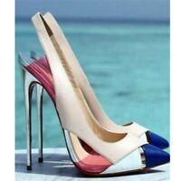 Fashion Women Pumps Pointed Toe High Heels Pumps Shoes Woman Plus Size 4-15