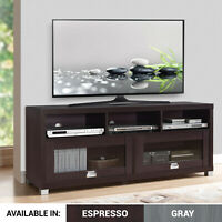 TV Console Wood Stand w/Cabinet Storage Shelf Furniture fits 55 65 up 75 Inch