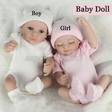Reborn Baby Puppe Lebensecht Handgefertigt Weich Silikon-Vinyl Junge Mädchen Neu