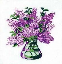 RIOLIS  603  Bouquet de Lilas  Kit  Broderie  Point de Croix  Compté